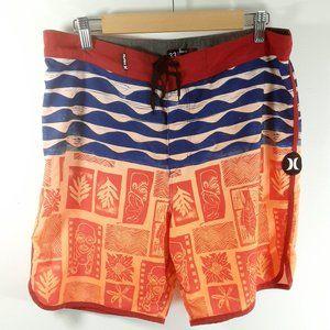 Hurley Phantom Tiki Print Swim Trunks/Board Shorts